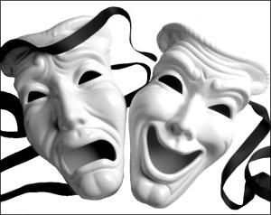 Theater-Masks White