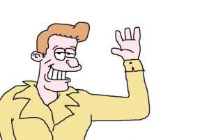 cartoon man