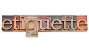etiquette word in letterpress type